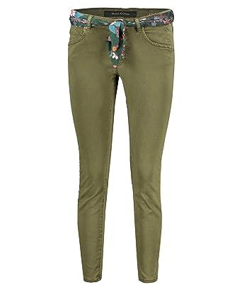 fcd0aef97f Marc O'Polo Damen Jeans Lulea Slim Fit Khaki (44) 31/32: Amazon.de ...