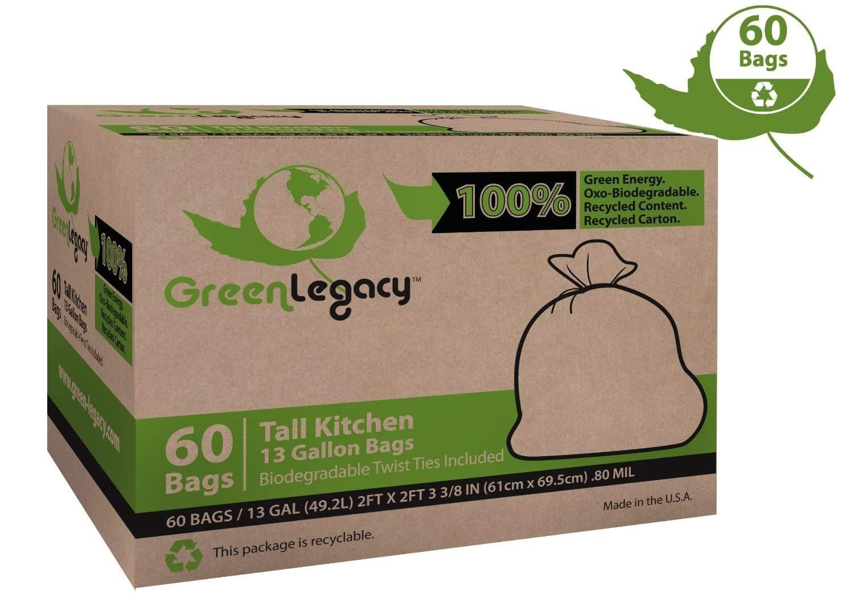 Amazon.com: Green Legacy – Bolsas de basura para cocina – 60 ...