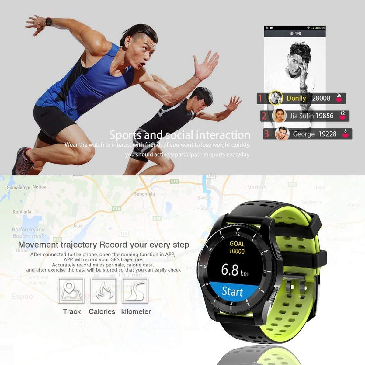 Reloj Deportivo con Bluetooth 4.0, con Control de Mensajes, Color ...