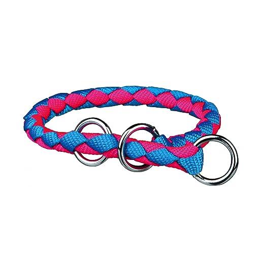 Trixie - Collar Estrangulador Cavo Azul-Rosa Neón para Perro - M-L ...