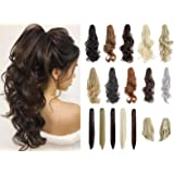 """Felendy Ponytail Extension Claw 18"""" 20"""" Curly Wavy Straight Clip in Hairpiece One Piece A Jaw Long Pony Tails for Women…"""