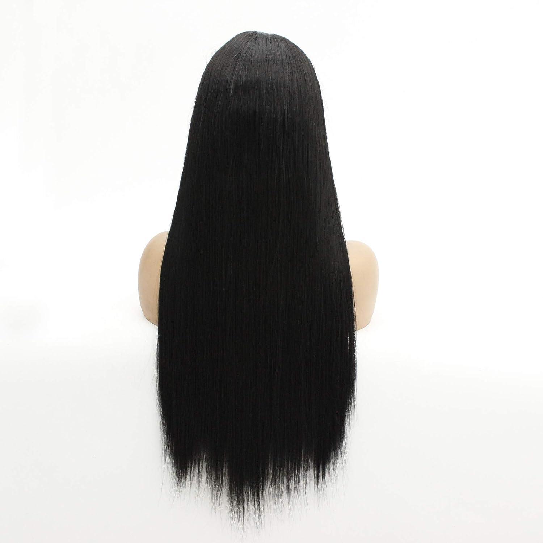 DER Wigs Rectos, Pelucas Negras, Cubiertas De Cabeza Tejidas A ...