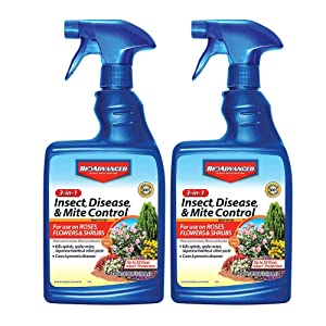 BioAdvanced 701290B Insecticide Fungicide Miticide 3-in-1 Insect, Disease & Mite Control, 24 oz, Ready-to-Use (Pack of 2)