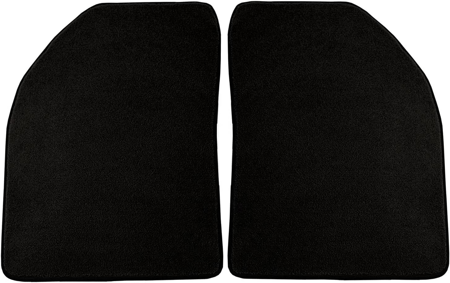 Coverking Custom Fit Rear Floor Mats for Select Dodge Models Black Nylon Carpet