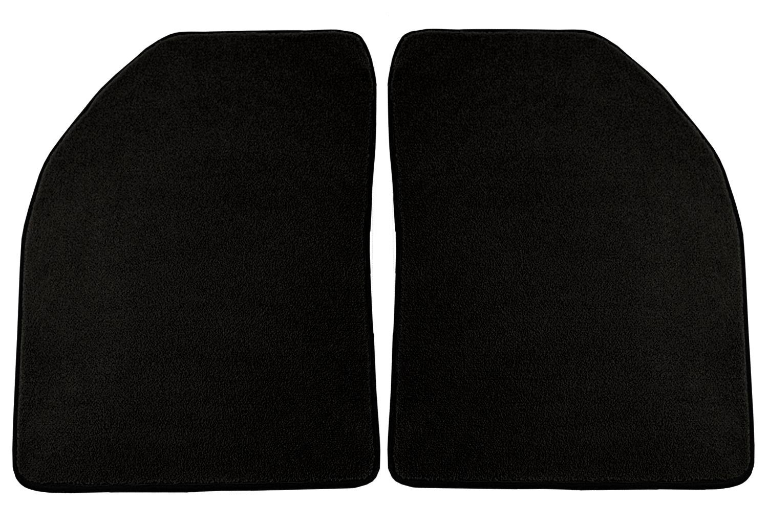 Black Coverking Custom Fit Rear Floor Mats for Select Bronco Models Nylon Carpet