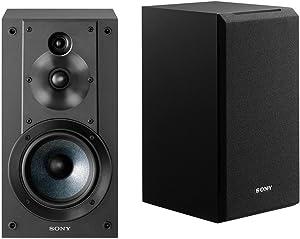 Sony SSCS5 3-Way 3-Driver Bookshelf Speaker System (Pair) & AmazonBasics SW100ft 16-Gauge Speaker Wire - 100 Feet