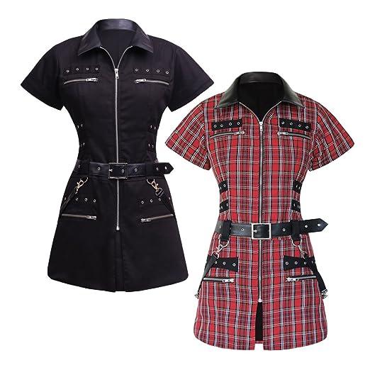 ceb041bfbb Viona Corset Elysa Black Gothic Tunic Dress at Amazon Women s ...
