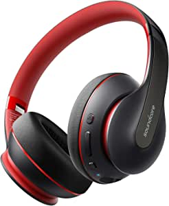 Anker Soundcore Life Q10 Wireless Bluetooth Headphones, Over Ear and Foldable, Hi-Res Certified Sound, 60-Hour Playtime and Fast USB-C Charging, Deep Bass, Aux Input.