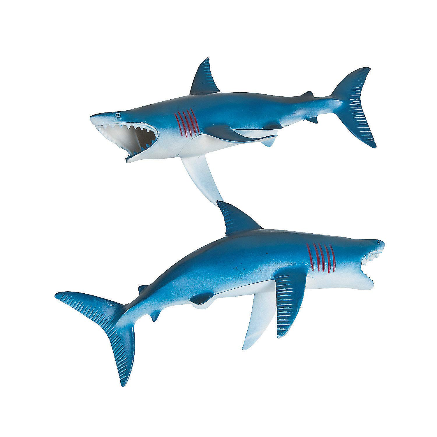 Plastic Shark Figures (12 Pack) Shark Party Favors and Toys