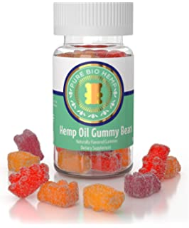 Amazon com: Organic Hemp Gummy Bears 500mg - Tropical Fruit Hemp Oil