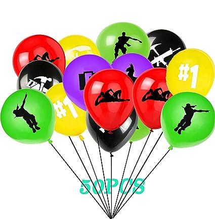 Amazon.com: 50 globos de juego para fiesta, de látex, de 12 ...