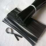 "Weststone Brand - 200pcs Plastic twist ties, 5""x 5/32"", Black, Re-Usable, Moisture resistant"