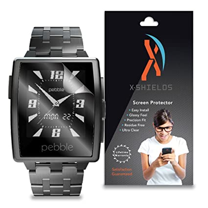 XShields© (3-Pack) Screen Protectors for Pebble Steel Smartwatch (Ultra Clear)