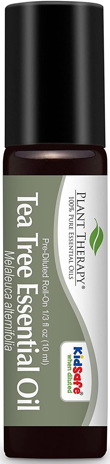 Tea Tree (Melaleuca) Pre-Diluted Essential Oil Roll-On 10 ml (1/3 fl oz). Ready to use! Plant Therapy Essential Oils