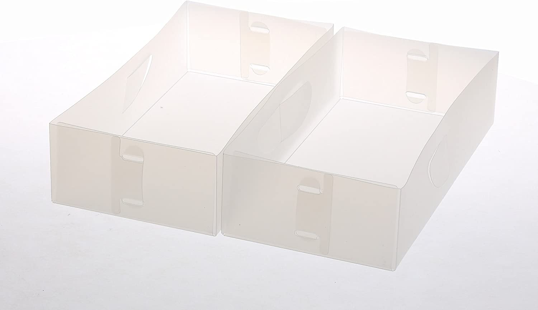 YBM HOME Closet Drawer Organizer for Underwear, Socks, Bras, Ties, Scarves, Foldable Dresser Storage Boxes Divider Keeps Clothes Organized (Medium Sized Organizers, Set of 2)