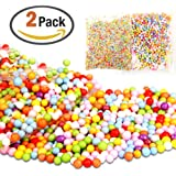 zesgood Colorfu pelotas de espuma de poliestireno bolas de espuma deads 0,09–0,32cm Ideal para bricolaje boda fiesta y decoración, 2paquetes/20000pcs