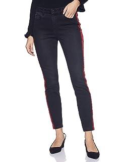 VERO MODA Womens Seven Uneven Fold Down Ankle Jeans