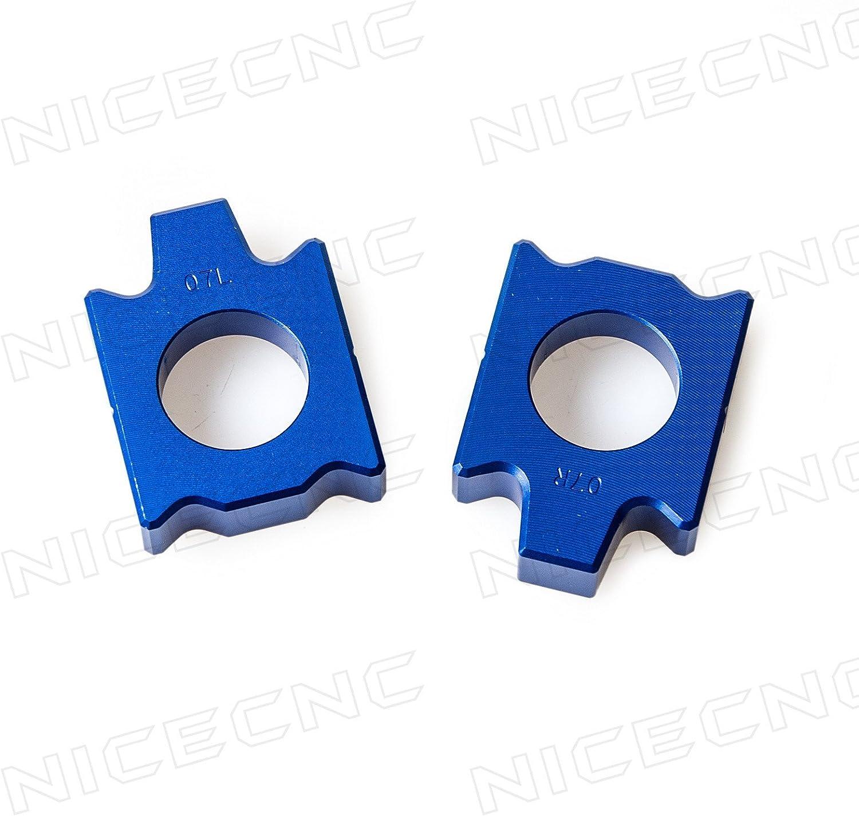 NICECNC Rear Axle Block Kit Chain Adjuster for YZ125//250 02-18 YZ250F 02-08 YZ450F 03-08 YZ125X 2017 YZ250X 16-18 250FX 15-18 450FX 16-17 WR250F 02-17 WR250R//X 07-17 WR450F 04-17