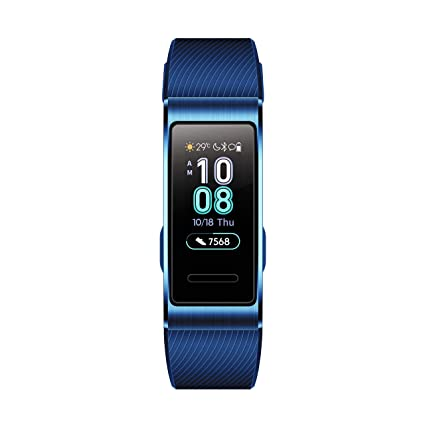 Huawei Band 3 Pro All In One Fitness Activity Tracker, 5 Atm Water Resistance Swim, 24/7 Heart Rate Monitor, Built In Gps, Multi Sports Mode, Sleep Tracking, Black, One Size by Huawei