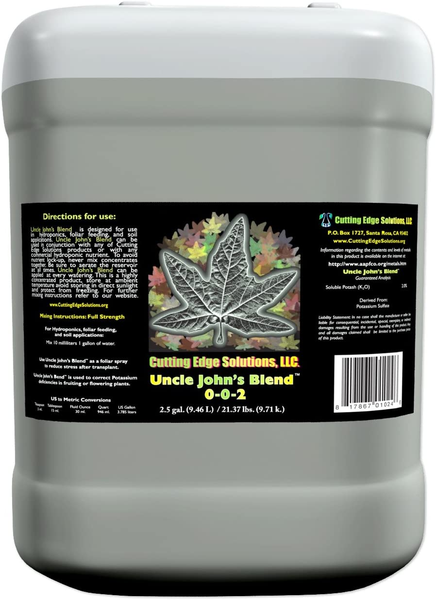 Cutting Edge Solutions CES2607 Uncle John s Blend Growing Additive, 55-Gallon, Blue