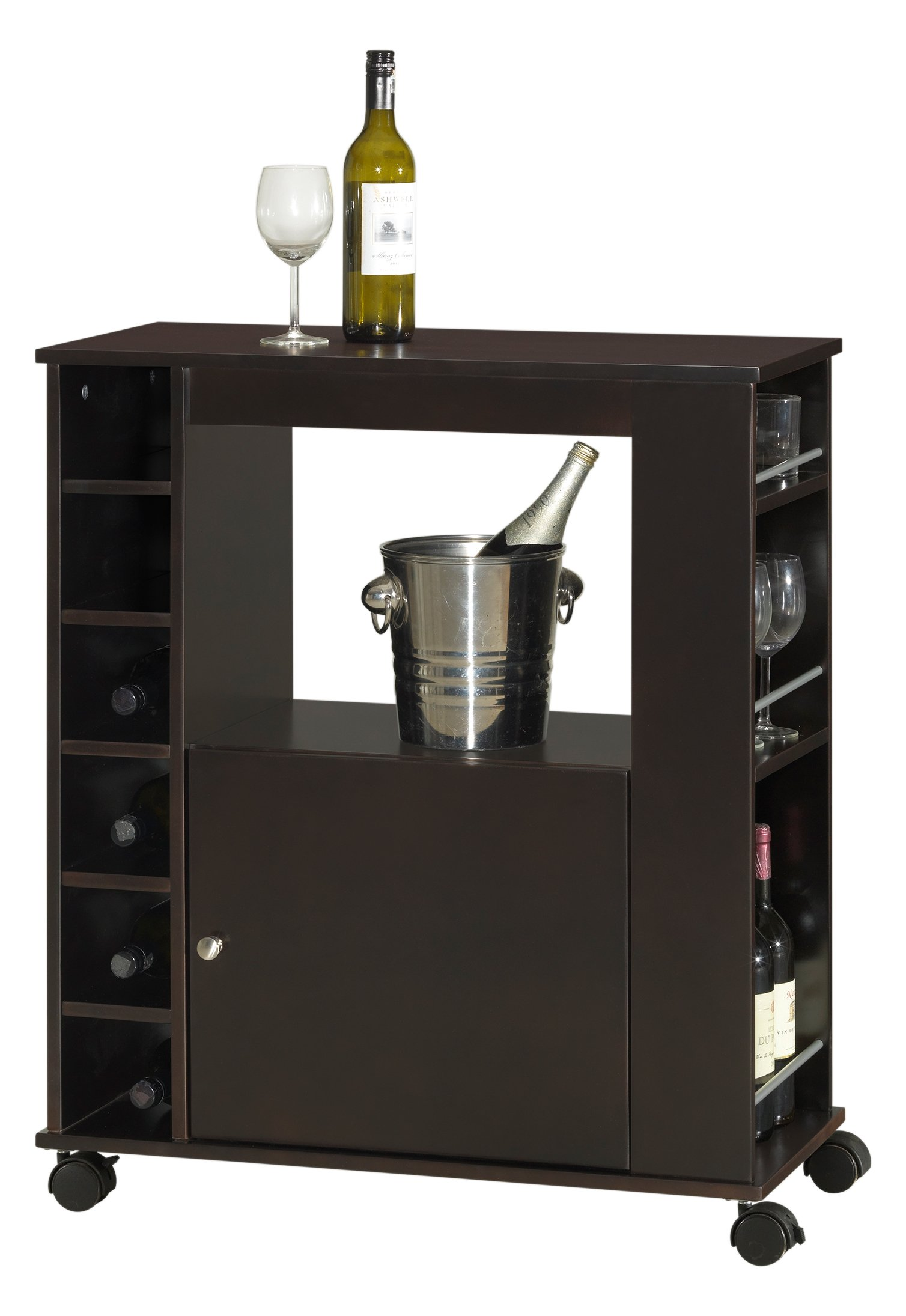 Baxton Studio Ontario Modern and Contemporary Wood Dry Bar and Wine Cabinet, Dark Brown by Baxton Studio