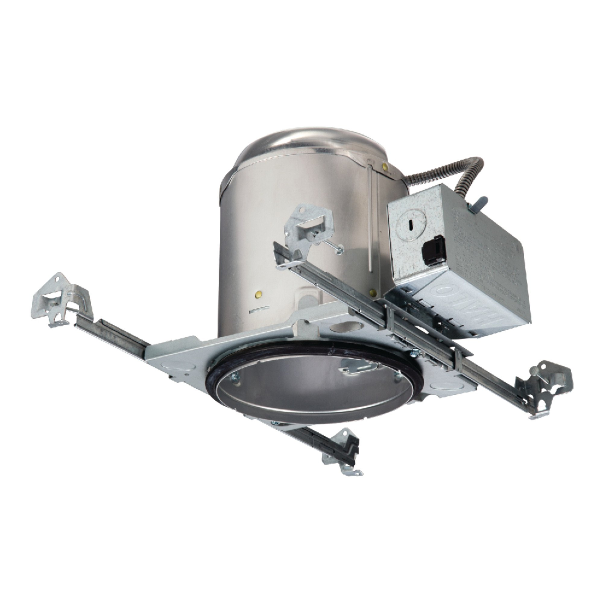 Halo E5ICAT E26 Series Recessed Lighting New Construction Insulation Contact Rated Air-Tite Housing, 6'', Aluminum