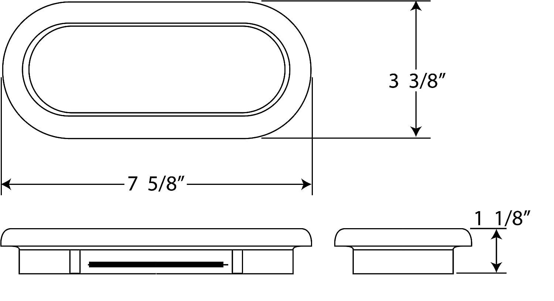 Optronics A-70GBP Rubber Grommet