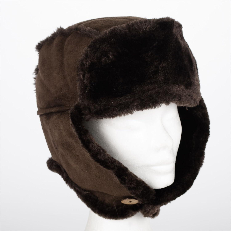 /votrechapeau Erwan Faux Fur Trapper Hat Faux Sheepskin Hat/