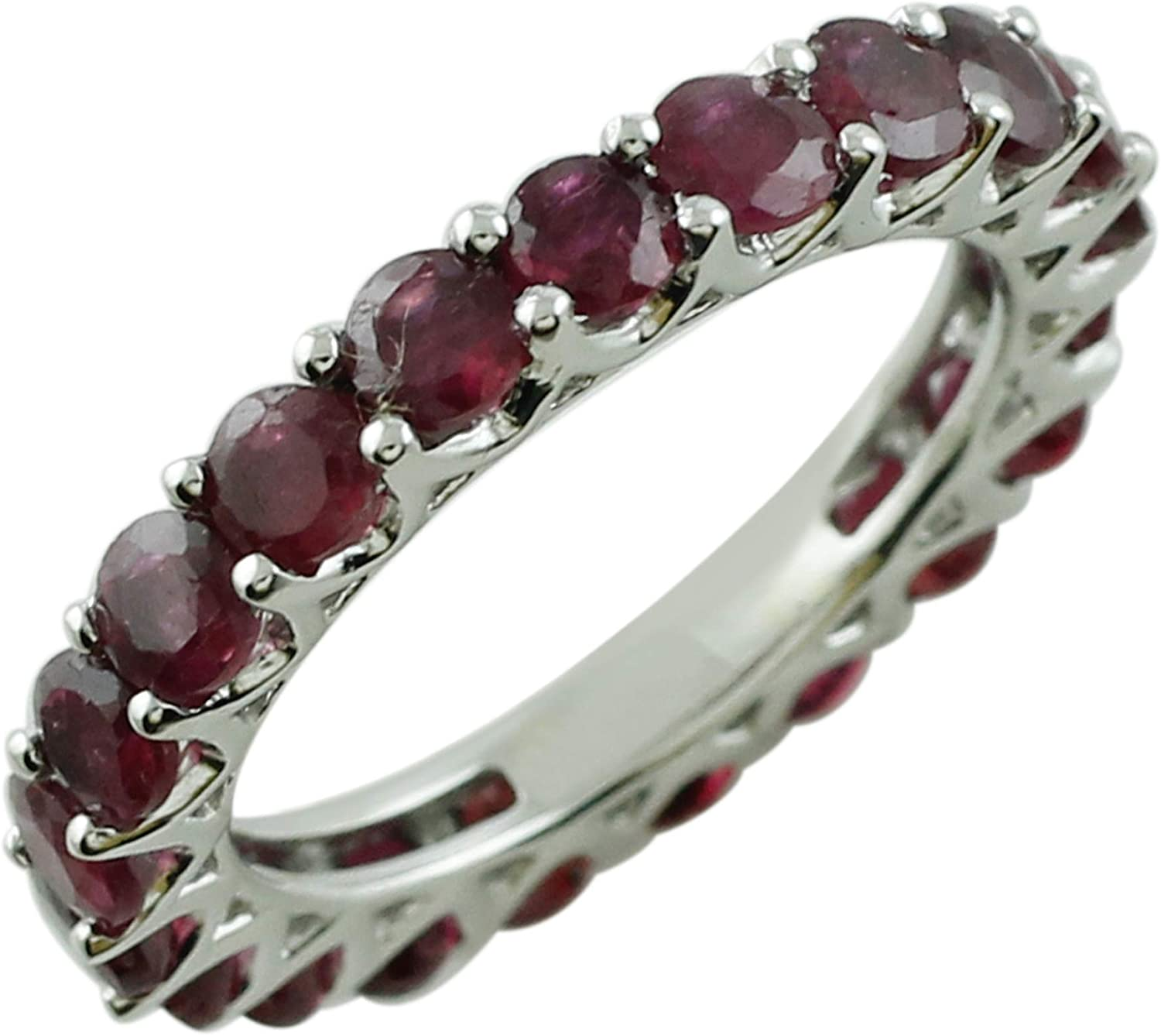 SGL Natural Thai Ruby 3.75 Carat Beautiful Engagement Ring for Women 925 Sterling Silver Jewelry for Women