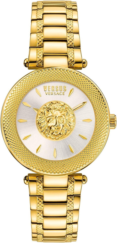 Versus Versace Silver Dial Gold Steel Women s Gold Bezel Watch VSP640218