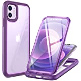 YOUMAKER # 2021 Upgraded # Aegis Series for iPhone 11 Case, Full-Body with Built-in Screen Protector Rugged Clear Case for iP