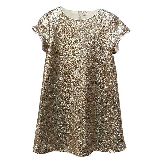 9a7fdaedc952 Amazon.com  Petite Adele Little Girls Blush Pink Sparkle Sequin Katy ...