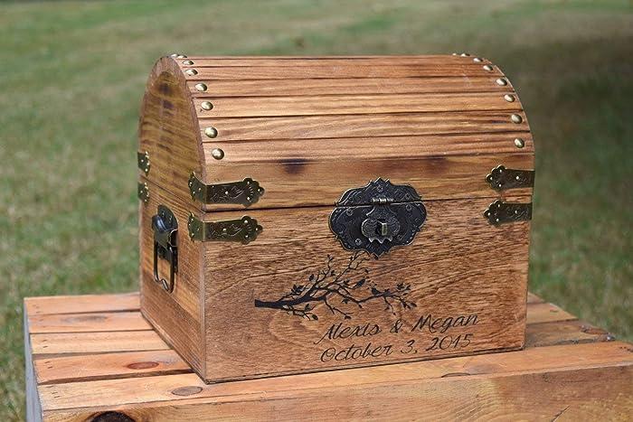 Amazon.com: Wedding Card Box - Card Box - Rustic Wedding - Weddings ...