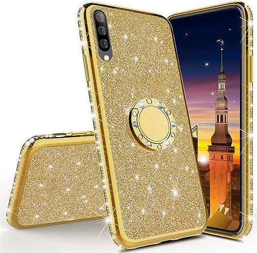 YSIMEE Compatibile Cover Samsung Galaxy S10,Custodie Gel Trasparente Brillantini Glitter Case con Scintillio Diamante Rinforzato Placcatura TPU Silicone Protettivo Morbida Ultra Sottile Antiurto,Nero