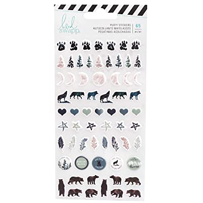 Heidi Swapp 314699 Stickers Wolf Pack-Puffy (65 Piece), Multi: Office Products