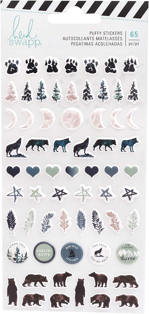Heidi Swapp American Crafts Wolf Pack Puffy Embellishment Sticker ...