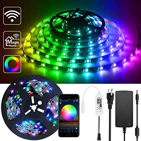 Ws2811 Rgb Dream Color Magic Home Wifi Control 5m 10m Led Strip Light For Alexa