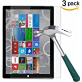 Surface Pro 3 Screen Protector,TANTEK [HD-Clear][Anti-Scratch][Anti-Glare][Anti-Fingerprint] Tempered Glass Screen Protector for Microsoft Surface Pro 3 12 inch (2014) ,-[3Pack]