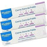 Kit Leve 3 Pague 2 Creme de Assadura Vitaminado Preventivo 123 sem Perfume/Conservantes, Mustela Bebê, Azul