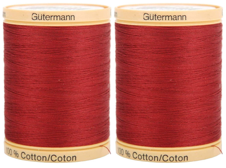 Aqua Marine Gutermann Natural Cotton Thread Solids 876 Yards Each 2-Pack