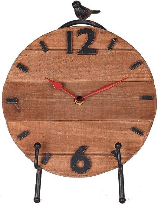 Nikky Home Reloj de mesa con caballete cuarzo analógicos Vintage ...