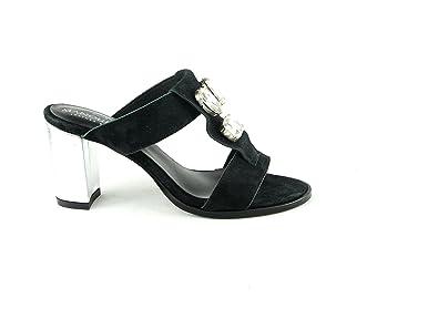 Manoukian Diams Noir Noir - Livraison Gratuite avec  - Chaussures Sandale Femme