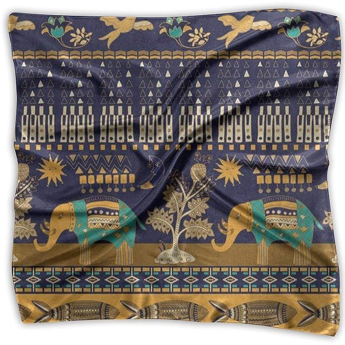 Square Scarf Retro Paisley Stylish Elephant Bird Scarves Unisex Handkerchief Tie For Man