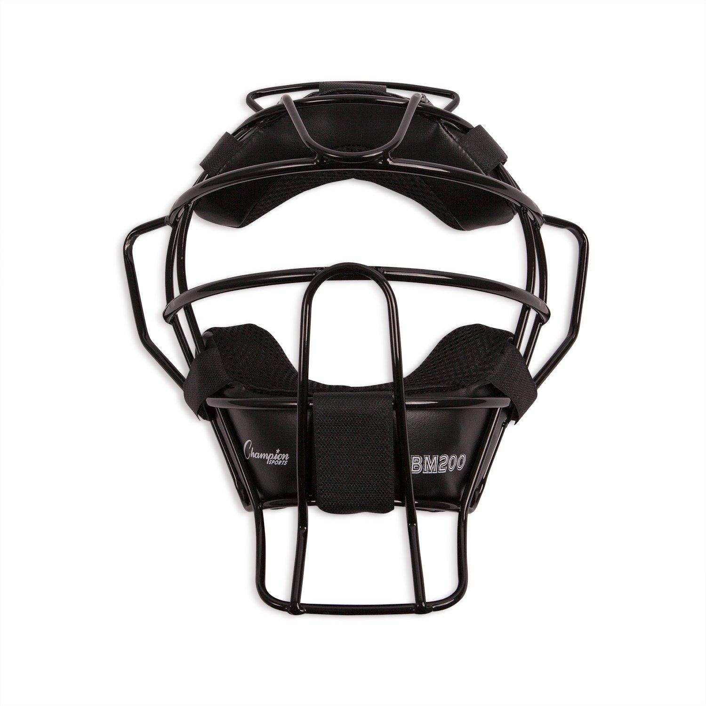 Champion Sports Lightweight Umpire Face Mask, Black by Champion Sports
