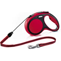 Flexi Comfort Cord Retractable Lead for Medium Dogs, Red