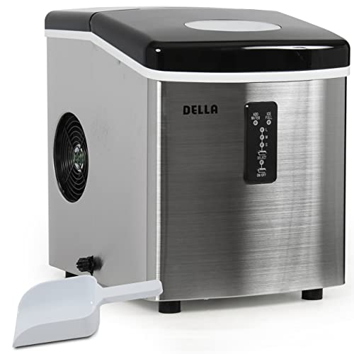 Della© Portable Electric Ice Maker Machine Producing 26 Lbs. Of Ice Per Day