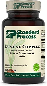 Standard Process Epimune Complex - Whole Food Respiratory Support with Maitake Mushroom Powder, Dried Yeast, Superfruit, Coriolus Versicolor, and Acerola - 90 Capsules