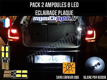 Pack Bombillas LED iluminación placa para Volkswagen Polo 6R