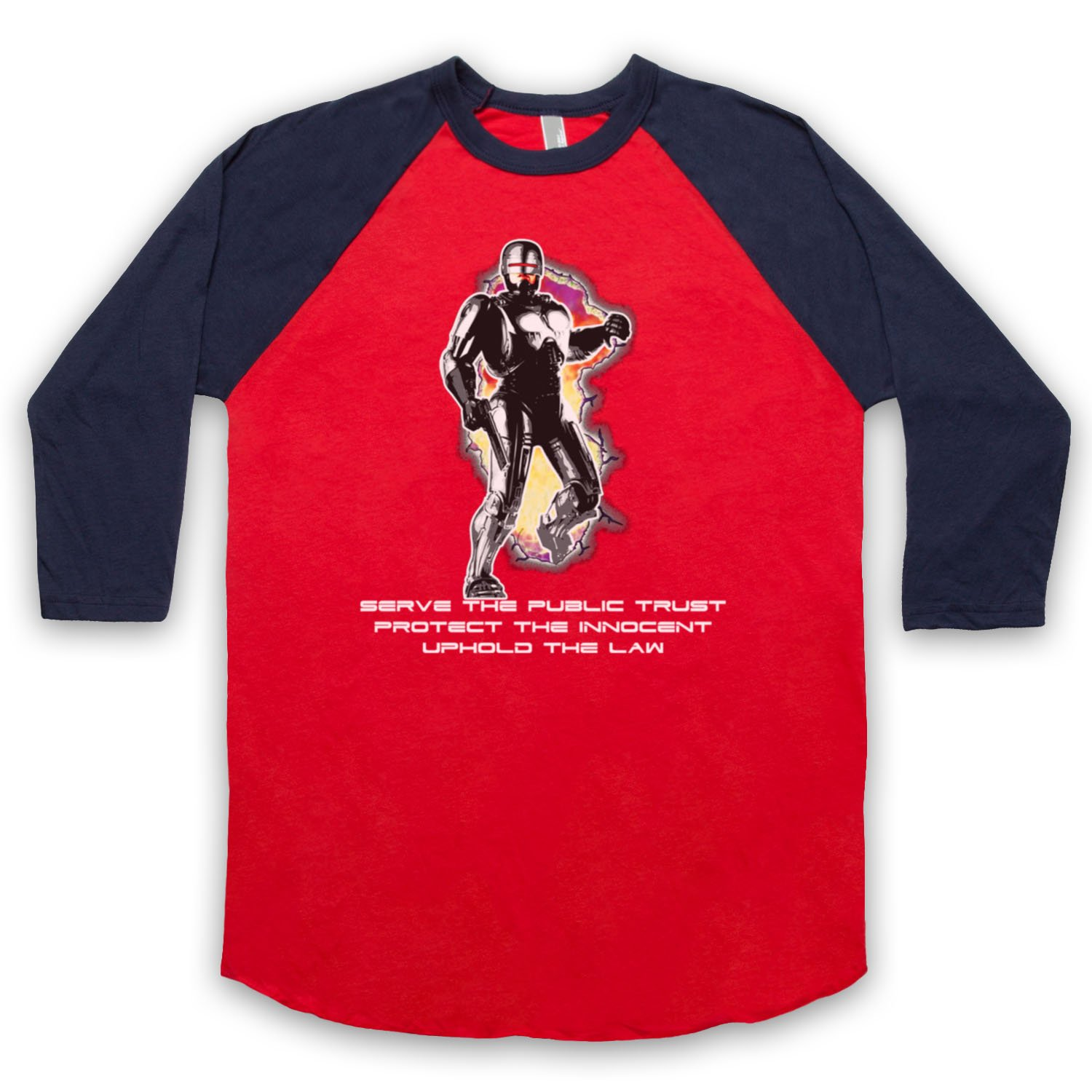 Inspired by Robocop Prime Directives Unofficial 3/4 Sleeve Retro Baseball Tee
