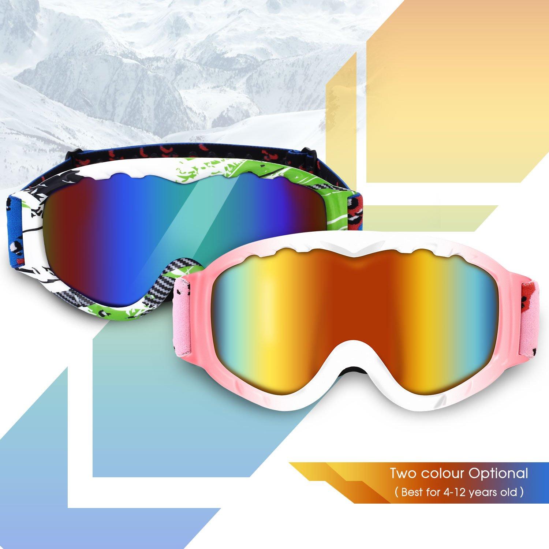 DAS Leben Ski Goggles Professional Anti-fog 104% UV Protection Snowboard Goggles With Sports Goggle Box for Skiing Snow Snowmobile Skiing Skate Winter(Men/Women/Girls/Boys/Kids)